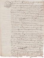 Papier Timbré Timbre De Dimension Tarif 25 C 13 Brumaire An VII Torfou La Romagne(Maine Et Loire)  1798 - Fiscaux