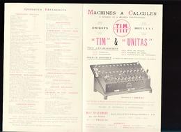 Précurseur Des Machines à Calculer / Tim & Unitas / Marc Deleamont, Rue Rodier Paris 9 ème - Publicités