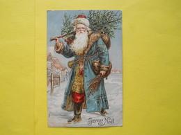 Joyeux Noel ,pere Noel ,gauffrée - Santa Claus