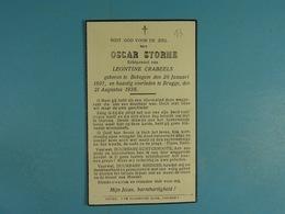 Oscar Storme épx Crabbeels Bekegem 1897 Brugge 1938 /13/ - Images Religieuses