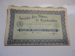 MINES DE BOUDOUKHA (100 Francs,capital 28 Millions) ALGERIE - Non Classés