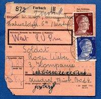 Colis Postal  /  Départ Forbach - Duitsland