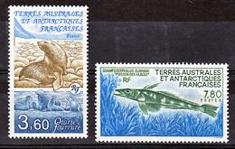 TAAF 159 161 Otarie Et Poisson Des Glaces Neuf ** TB MNH Sin Charnela Prix De La Poste 1.75 - Tierras Australes Y Antárticas Francesas (TAAF)