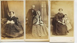 11731 -  3   PHOTOS  Format   C.V  BROMURE-   Famille BENEDETTI  - Photographe E. Di Chanaz  Torino - Old (before 1900)