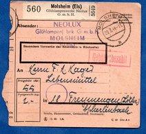 Colis Postal  /  Départ Molsheim / 29-3-44 - Deutschland
