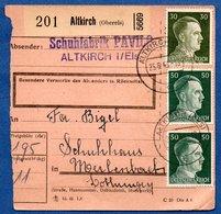 Colis Postal  /  Départ Altkirch / 25-6-43 - Allemagne