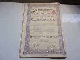 Générale De Tramways Et D'applications D'électricité  (1912) - Non Classés
