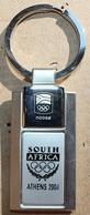 PORTE CLES EN ARGENT - JEUX OLYMPIQUES ATHENS 2004 - SOUTH AFRICA - AFRIQUE DU SUD - NOCSA - ATHENES - Habillement, Souvenirs & Autres