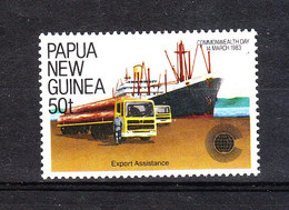 Papua  N. Guinea  - 1983. Export: Autocisterna Al Porto. Tanker At The Port. MNH - Verkehr & Transport