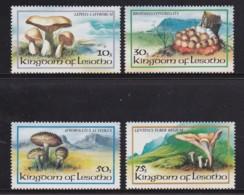 LESOTHO, 1983, Mint Stamps,  Mushrooms, Sasc Nr. Sa411-414, Scannumber 2666 - Lesotho (1966-...)
