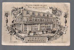 Bordeaux (33 Gironde) Calendrier- Carte Parfumée ?? SEGUIN  1874 Voir La Description(PPP17401) - Anciennes (jusque 1960)