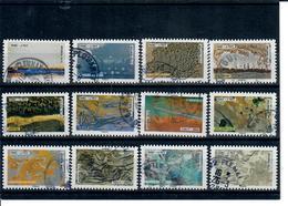 Yt 1502 A 1513 Serie Complete Nature-portions De Cachets Ronds - Frankreich