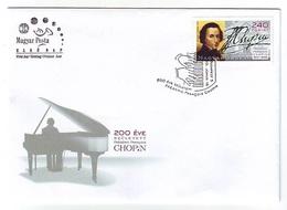 HUNGARY FDC 5480,music - FDC