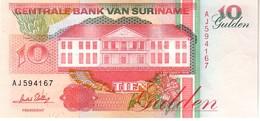 Surinam P.137  10 Gulden 1996 Unc - Suriname