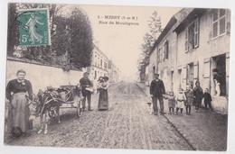 MESSY (77 Seine-et-Marne) - Rue De Moulignon - Attelage D'Âne - Vendeur Ambulant - France