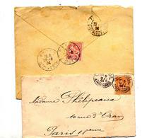 Lettre Cachet Sur Mouchon à Voir - Marcophilie (Lettres)