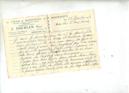 Lettre  Entete Cycle Et Motocycle Alençon - Vieux Papiers