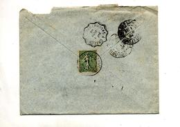 Lettre  Cachet Lons Le Saunier + Convoyeur Louhans à Chalon - Postmark Collection (Covers)