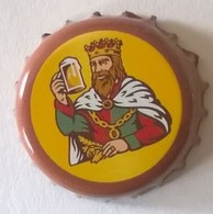 Luxembourg Capsule Bière Beer Crown Cap Battin Brune Marron Et Jaune - Bière