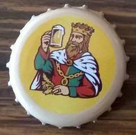 Luxembourg Capsule Bière Beer Crown Cap Battin Blanche Beige Et Jaune - Bière