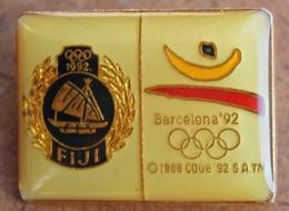 ATTENTION C'EST UNE BROCHE - SPINDEL - BROOCH -  JEUX OLYMPIQUES BARCELONA 92 - ILES FIJI - ISLANDS - BATEAU - BOAT - Jeux Olympiques