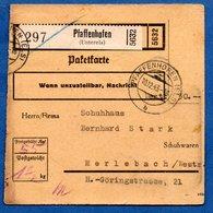 Colis Postal  /  Départ Pfaffenhofen / 10-12-43 - Allemagne