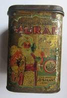 """Old  """" MURAD """"tobacco Tin Box Manufacture """" OSMAN '' In Riga  1920 / 30s - Contenitori Di Tabacco (vuoti)"""