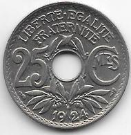 France 25 Centimes  1924  Km  867a   Xf - France