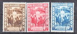 Ruanda Urundi Nr 108-110     Obliteré - Gestempeld - Used   (O) - Ruanda-Urundi