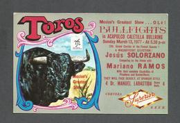 CORRIDA - BULLFIGHT - ANIMAUX - ANIMALS - CALETILLA BULLRING ACAPULCO 1977 JESUS SOLORZANO MARIANO RAMOS - Corrida