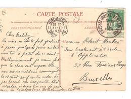 PR6382/ TP 110 S/CP Verviers Château Peltzer De Rossius C.Ambulant BXL -Arlon 2 31/7/1913 V.BXL C.d'arrivée - Ambulants