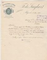 Algérie Facture Lettre Illustrée 2/5/1914 F De JUGLART Distillerie Du Nord ALGER - Factures & Documents Commerciaux