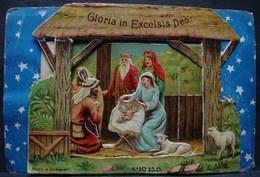 Découpis. 11. Carte Postale Avec Découpis De La Crèche De Noël - Motif 'Noel'