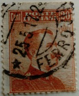Italie Italy Italia 1916 Victor Emmanuel III Sans Filigrane Senza Filigrana Without Watermark Yvert 103 O Used Usato - Usados