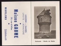 Vieux Papiers > Calendriers > Petit Format : 1941-60 Guérande Moulin Du Diable Maison GAUME Moulins - Calendriers