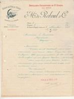Algérie Lettre Illustrée 1898 M De REBOUL & Cie Distillerie Charentaise De St Eugène Près ORAN  - St Jean D'Angély - Factures & Documents Commerciaux