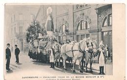 Cpa Luxembourg Cavalcade Char Maison Mercier - Luxemburg - Town