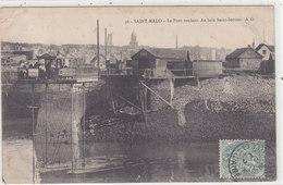 "ST MALO : La"" Gare "" Du Pont Roulant - Rare - Saint Malo"