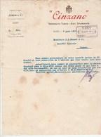 Algérie Lettre 9/6/1917 JOBIN & Co CINZANO Vermouth Turin Asti Spumante ALGER - Factures & Documents Commerciaux