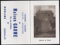 Vieux Papiers > Calendriers > Petit Format : 1941-60 Dinan Le Chateau Maison GAUME Moulins - Calendriers