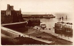 Isle Of Man Castle And Breakwater Peel Boats Postcard - Other