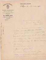 Algérie Lettre 19/10/1922 Mme PARAHY Julien Produits D' Orient Tapis Algériens  ALGER - Factures & Documents Commerciaux
