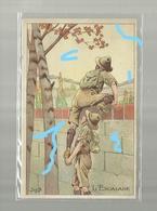 **L'ESCALADE**------------illustrateur : J O B ---------------- - Scoutisme