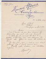 Algérie Lettre 23/10/1929 Maison Hours Coindre Charcutier  ALGER - Factures & Documents Commerciaux