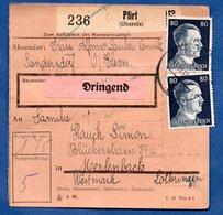 Colis Postal  /  Départ Pfirt  / 15-12-43 - Allemagne