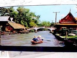 THAILAND  BRIDGE CROSSING KHLONG AT THONBURI  BANGKOK V1976 HB8457 - Tailandia