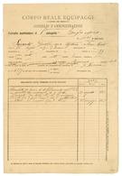 CORPO REALE EQUIPAGGI MARITTIMI ESTRATTO MATRICOLARE 1908- PARTECIPANTE ASSEDIO DI GAETA 1861 (B/07) - Historical Documents