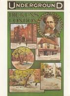 Postcard Charles Dickens London Underground  My Ref  B23418 - Writers