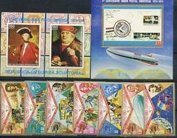 Guinea Equatorial, UPU, Space 1974, 7 Stamps +2 Blocks, 30 Euro - Afrique