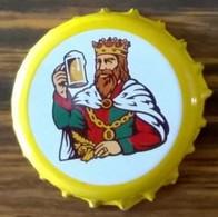 Luxembourg Capsule Bière Beer Crown Cap Battin Pils Jaune Et Blanche - Bière